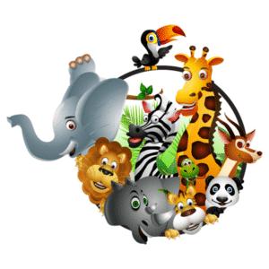 Muursticker Jungle dieren - HIP&STIJLVOL