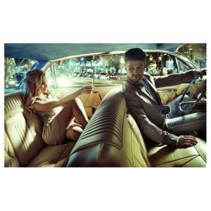 Akoestisch paneel - Elegant couple in car - HIP&STIJLVOL