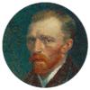 Muurcirkel - van Gogh zelfportret - HIP&STIJLVOL