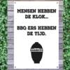 Tuinposter BBQ-ers hebben de tijd