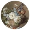 Muurcirkel - Bloemstilleven met albasten vaas