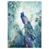 Tuindoek - Tuinposter Pauw aquarel